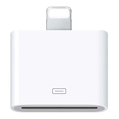 30 Pin Adapter | 8 Pin Male to 30 Pin Female | Works with Smartphones, Cars, Docking Stations and More White (Ipod Dock Lightning Connector)