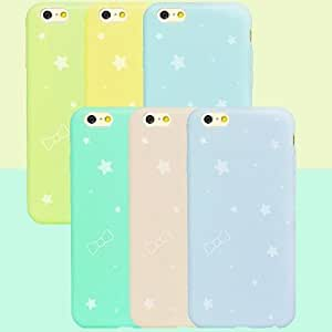 SHOUJIKE First Love Under the Stars TPU Soft Cover for iPhone 4/4S , Yellow