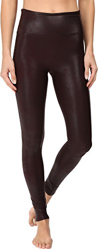 SPANX Women's Faux Leather Leggings Wine Medium 30 from SPANX