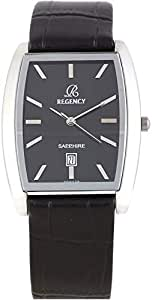 Regency Unisex Black Dial Leather Band Watch [3433G]