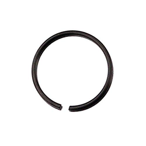 (Botrong® Stainless Steel Round Nose Ring Piercing Earring Stud Stud Nasal Septum (10mm, Black))