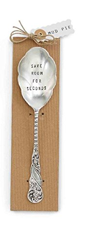 Tablespoon Serving Silver Spoon Plated - Mud Pie Seconds Big Serving Spoon, Silver