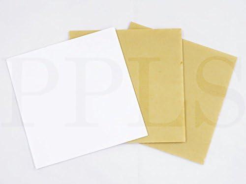 2153 PPLS アクリル板 白 3種アソート【板厚 2.5 3.5 4.5mm】200×200mm