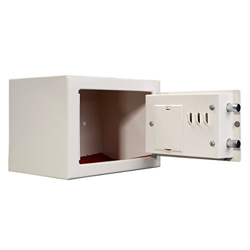 Safstar Digital Electronic Safe Box 9.2'' x 6.8'' x 6.8''(White) by S AFSTAR (Image #2)