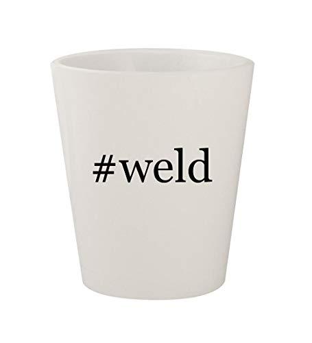 #weld - Ceramic White Hashtag 1.5oz Shot Glass