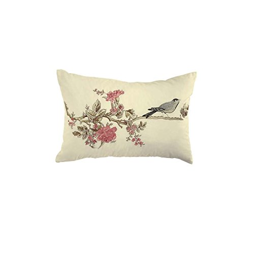 WAVERLY Cape Embroidered Pillow, 14 x 20, Coral