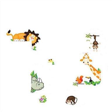 XGHC Nursery Animal Zoo Tiger Kids Room PVC Wall Stickers Home Decor Wallpaper Mural (Tiger Mural Plastic)