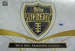 2013 Topps Supreme NFL Trading Card Hobby Box Checklist Autographed Card
