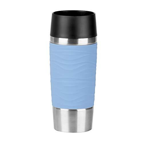 Emsa N2010700Waves Travel Mug Thermos Mug 18/10Stainless Steel/Powder Blue