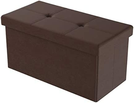 home, kitchen, furniture, accent furniture,  ottomans 12 on sale Lavish Home Large Foldable Storage Bench Ottoman – Tufted promotion
