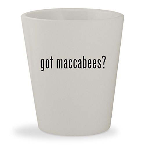 Judah Maccabee Costume (got maccabees? - White Ceramic 1.5oz Shot Glass)