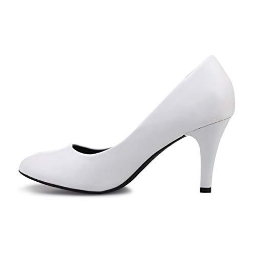 De Sintético Blanco Modeuse Mujer Vestir Zapatos La 50629 qtOFSat