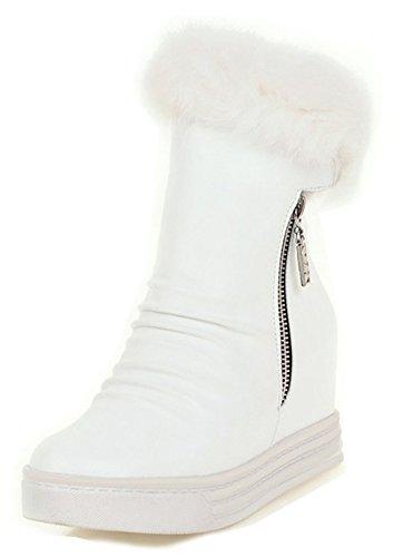 Ranger Fermeture Classique Bottines Femme Blanc Eclair Aisun Plateforme wSR78WcgqZ