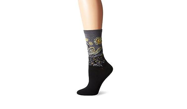 Hot Sox mujer de Vincent van Gogh La noche estrellada pantalones de calcetines: Amazon.es: Ropa y accesorios