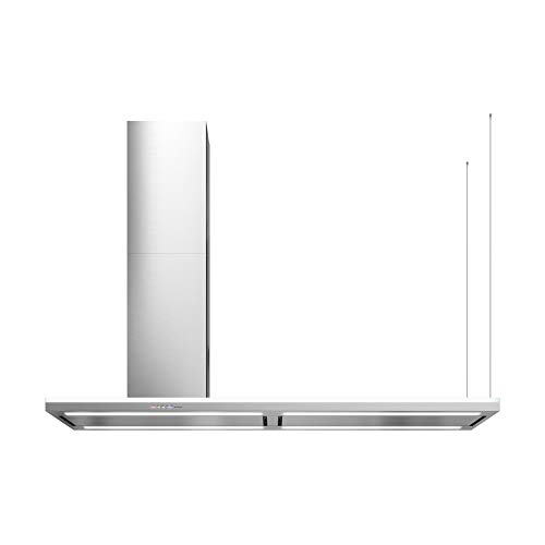 Futuro Futuro Island-Mount Range Hood 69″ 940-CFM | Streamline Left-Handed | Stainless Steel Vent Hood | Modern Italian Exhaust Hood | LED, Ultra-Quiet w/Blower