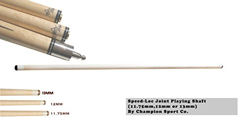 Gator New Champion Sport Exclusive! Extra Shaft for Fury Dl, Ll, Nr Series Cues (Pool Cue Shaft 12mmmm for Speed-Loc Pin)