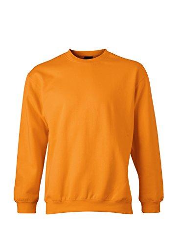 o varios capucha colores Tama Naranja 2store24 Heavy a redondo en Cuello 5xl hombre con S Sudadera para Rqw0407
