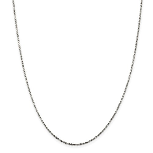 Mireval Sterling Silver Horseshoe with Boot Charm on a Sterling Silver Rope Chain Necklace, 20'' by Mireval (Image #3)