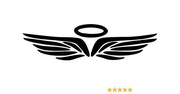 Angel Wings /& Halo Vinyl Decal Car Wall DecalDoggy