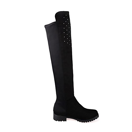 Boots Band Glass Black Velvet amp;N Elastic Weather Cold A Xi Diamond Girls Shi 4wUxtOP