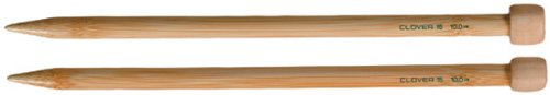 "Clover - Bamboo Single Point Knitting Needles 9"" - Size"