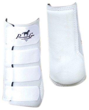 Quick Wrap Splint Boots (Professionals Choice Equine Quick-Wrap Splint Front Boot, Pair (Universal Size, White))