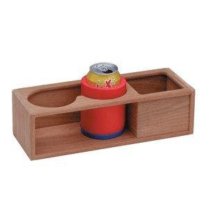 OKSLO The amazing quality teak two insulated drink/binocular rack w/tray