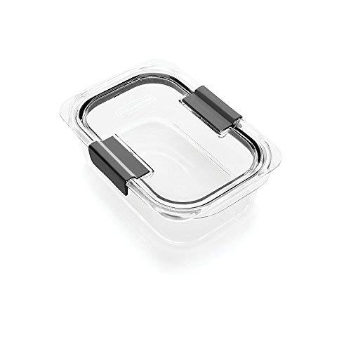 (Rubbermaid Brilliance Food Storage Container, 100% Leak-Proof, Medium, 3.2 Cup)