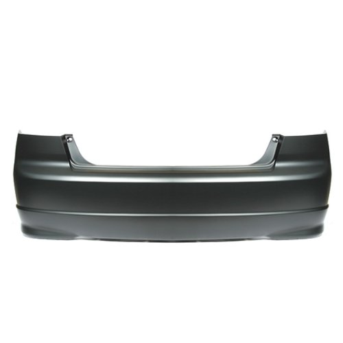 CarPartsDepot 352-201009-20, Rear Bumper Cover Primered Black Plastic 4Dr Sedan