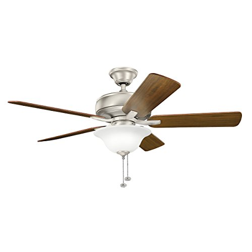 Select 52 Ceiling Fan (Kichler 330248NI 52 Inch Terra Select Ceiling Fan, Pull Chain, Brushed Nickel Finish with Silver/Walnut Blades)