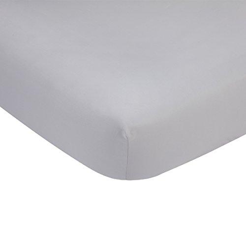 Carter's Solid Grey Cotton Sateen Crib Sheet - 52