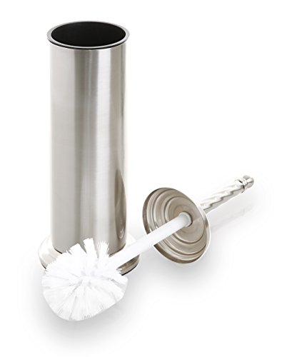 Brush Nickel Finish - BINO Toilet Brush & Holder with Removable Drip Cup, Brushed Nickel