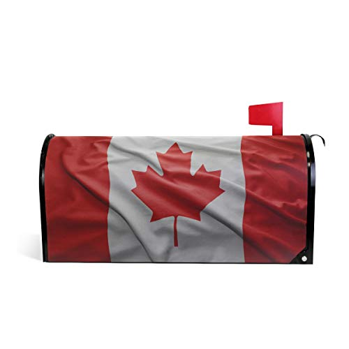 Printedin3D Canada Flag Magnetic Mailbox Cover for US Large Size ()