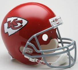 NFL Riddell Kansas City Chiefs Red 1963-1973 Throwback Replica Full-Size Helmet ()