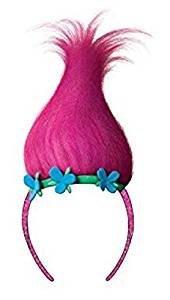 OS Fits Child, Magenta, Trolls Sugar Glitter Headband with Troll hair