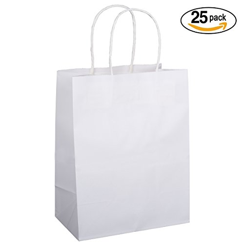 BagDream 25PCS Shopping Bag 8x4.75x10.5