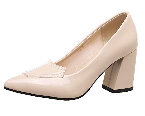 Ballet Donna Tirare Puro Flats AllhqFashion Beige FBUIDD007193 Tacco Medio xO1qXwzf