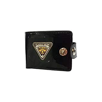 Fuschi Black Faux Leather For Men - Bifold Wallets