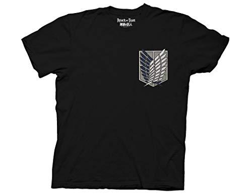 Attack Mens T-shirt - Ripple Junction Attack on Titan Survey Corps Adult T-Shirt 2XL Black