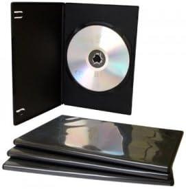 Bulk - Set de cajas para CD/DVD (100 unidades, 7 mm, con bolsillo ...