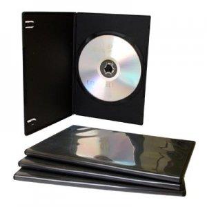 Bulk - Set de cajas para CD/DVD (100 unidades, 7 mm, con bolsillo transparente para carátula): Amazon.es: Electrónica