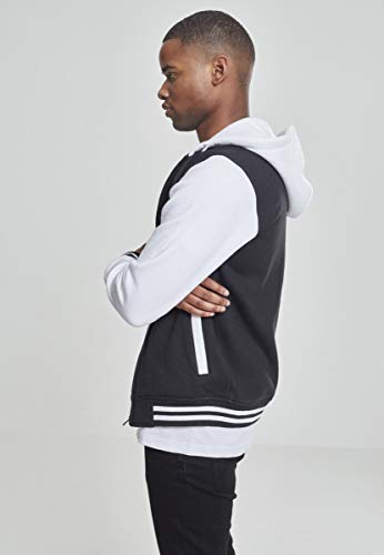 Urban Uomo weiß Hoody Giacca Zip Bekleidung Classics Schwarz q6a18