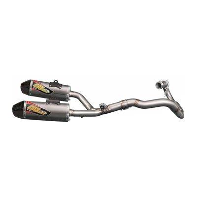 Pro Circuit TI-5 Titanium Complete Exhaust System With Carbon Fiber End Cap - Fits: Honda CRF450R 2013-2014