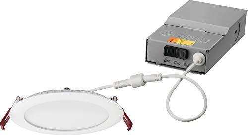 Lithonia Lighting WF6 27K30K35K 90CRI MW M6 LED Color Temperature Selectable Ultra Thin Recessed Downlight, 2700K…