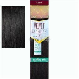 Outre Remy Human Hair Weave Velvet Brazilian Natural Yaki (12