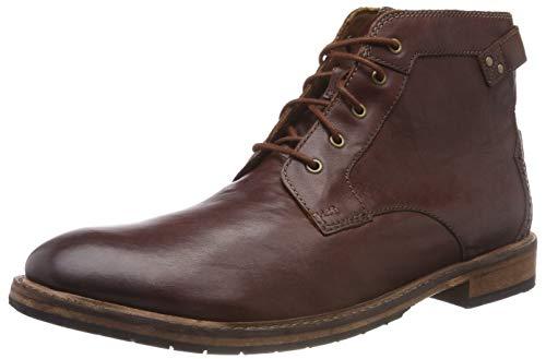 Uomo Bud Stivali Clarks Leather Classici Marrone Mahogany Clarkdale Z5IwqpxO