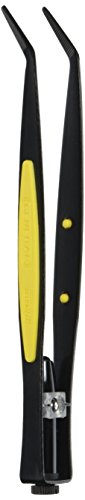 General Tools 70408 Bent Tip Lighted Tweezers