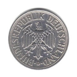 1950-D Germany Federal Republic 1 Mark Coin KM#110