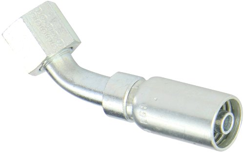 EATON Weatherhead Coll-O-Crimp 06U-L68 45 Degree Female Swivel Tube Elbow Fitting, Low Carbon Steel, 3/8
