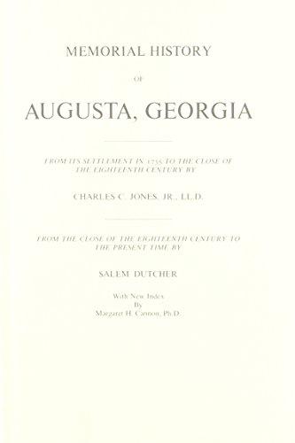 Memorial History of Augusta Ga